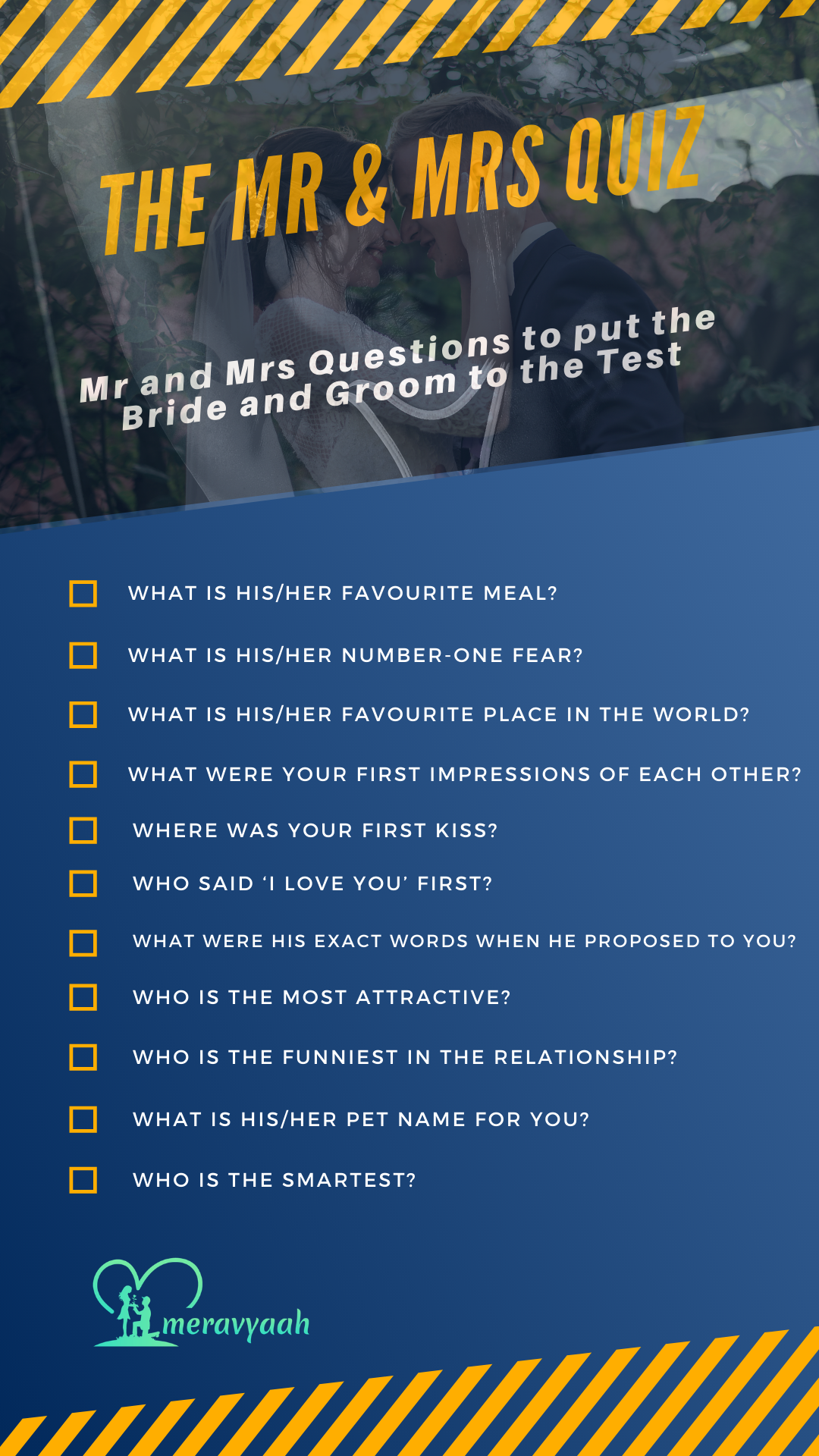 The Mr & Mrs Quiz: Interesting Questions to Ask Bride and Groom